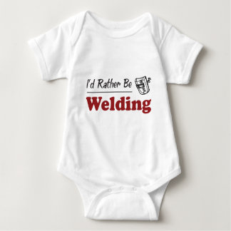 Rather Be Welding Baby Bodysuit