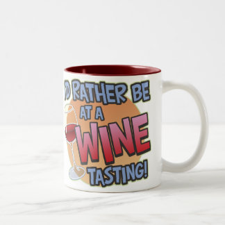 Rather Be Wine Tasting Large Two Tone Mug
