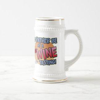 Rather Be Wine Tasting Stein 18 Oz Beer Stein