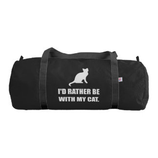 Rather Be With My Cat Gym Bag