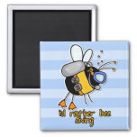 rather bee diving refrigerator magnets