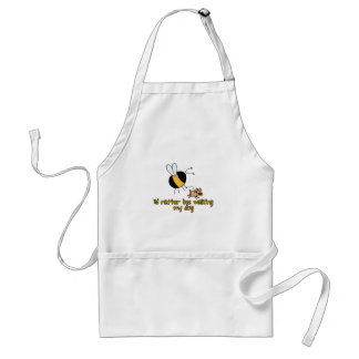rather bee walking my dog standard apron