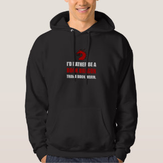 Rather Book Dragon Than Worm Hoodie