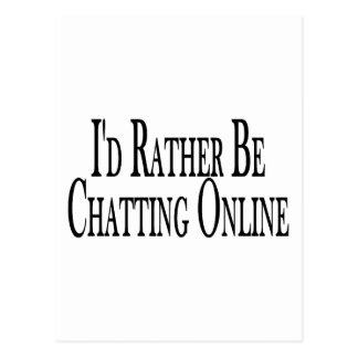 Rather Chat Online Postcard