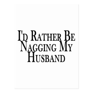 Rather Nag Husband Postcard