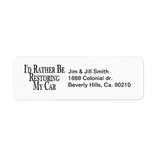Rather Restore Car Return Address Label