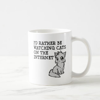 Rather Watch Cats Funny Mug