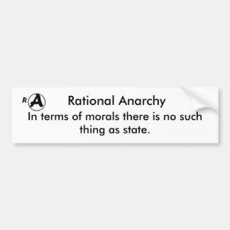 Rational Anarchy Bumper Sticker