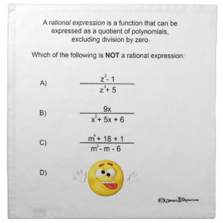 Rational Expression Cloth Napkin