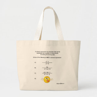 Rational Expression Large Tote Bag
