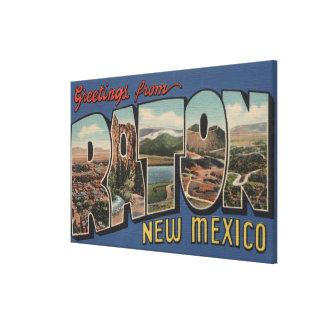 Raton, New Mexico - Large Letter Scenes Canvas Print