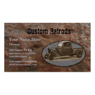Ratrod Truck Rusty Metal Pack Of Standard Business Cards
