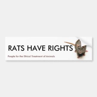 RATS HAVE RIGHTS BUMPER STICKER