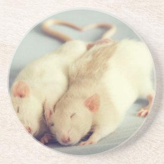 Rats heart tail coaster