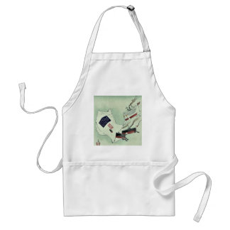 Rats in a bag by Kobayashi, Kiyochika Ukiyoe Aprons
