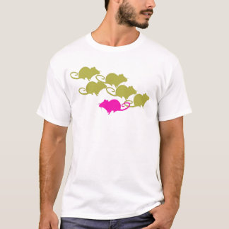 Rats in Pink and Green T-Shirt