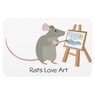 Rats Love Art Magnet
