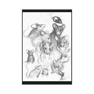 Rats of the Anxiety Canvas Print
