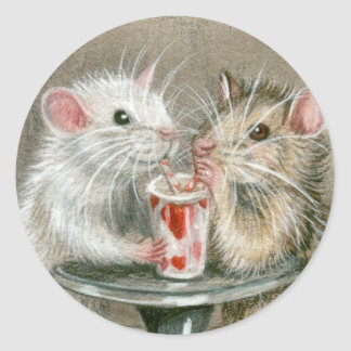 Rats on a Date Stickers