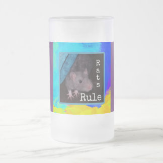Rats Rule Frosted Mug