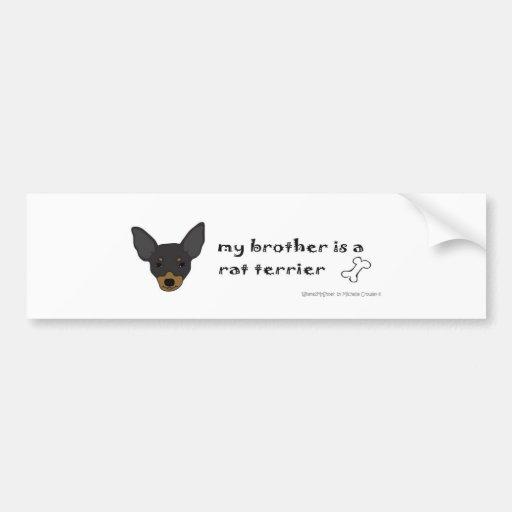 RatTerrierBlkTanBrother Bumper Stickers