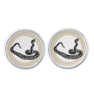 Rattle snake cuff links