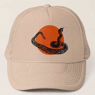 Rattle snake trucker hat