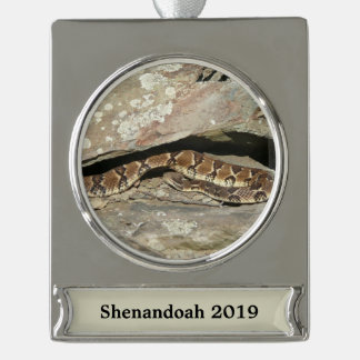 Rattlesnake at Shenandoah National Park Silver Plated Banner Ornament