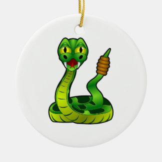 Rattlesnake Ceramic Ornament