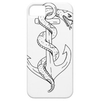 Rattlesnake Coiling on Anchor Drawing Case For The iPhone 5