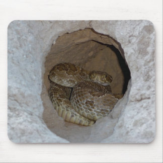 Rattlesnake in Prairie Dog Burrow Mousepad