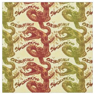 rattlesnake licking himself fabric
