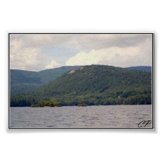 Rattlesnake Mountain and Squam Lake Photograph Poster