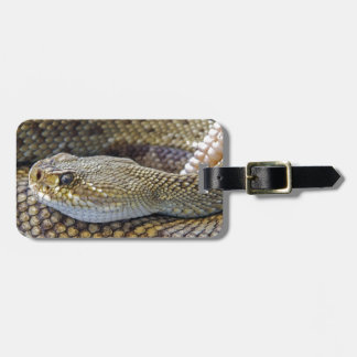 Rattlesnake photo luggage tag