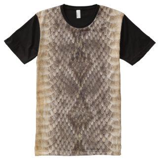 Rattlesnake Snake Skin All-Over Print T-Shirt