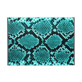 Rattlesnake Snake Skin Leather Faux blue Cover For iPad Mini