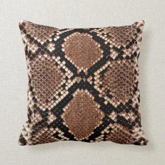 Rattlesnake Snake Skin Leather Faux Cushion