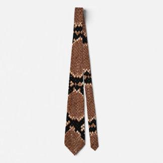 Rattlesnake Snake Skin Leather Faux Tie