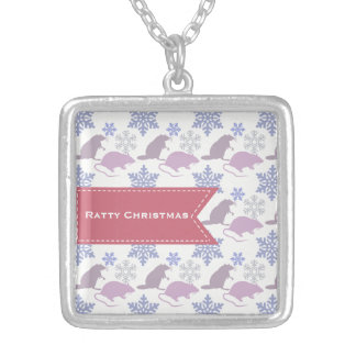 Ratty Christmas Rat Silver Plated Necklace