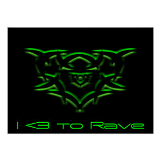 Rave Heart Poster