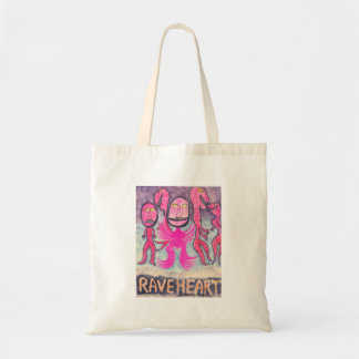 Rave Heart Budget Tote Bag