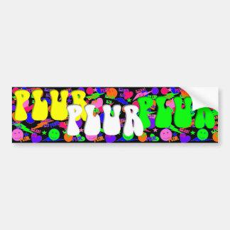 Rave Kandi Kid PLUR Smiley Bumper Sticker