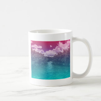 Rave Lovers Key Trippy Pink Blue Ocean Coffee Mug