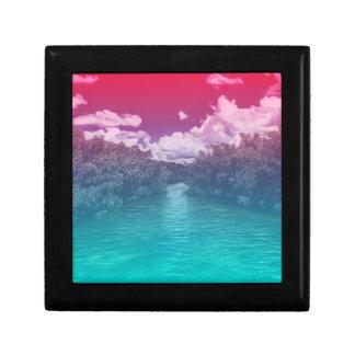 Rave Lovers Key Trippy Pink Blue Ocean Gift Box