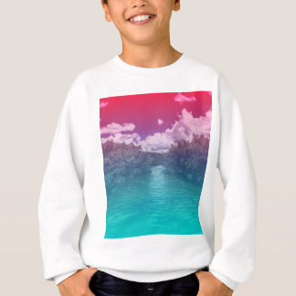 Rave Lovers Key Trippy Pink Blue Ocean Sweatshirt