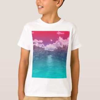 Rave Lovers Key Trippy Pink Blue Ocean T-Shirt