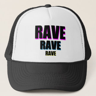 Rave x 3 trucker hat