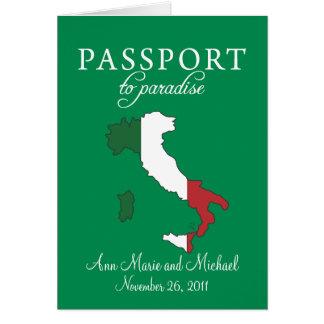 Ravello Italy Passport Wedding Invitation