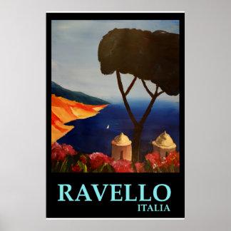 Ravello Italy  - Retro Style Poster