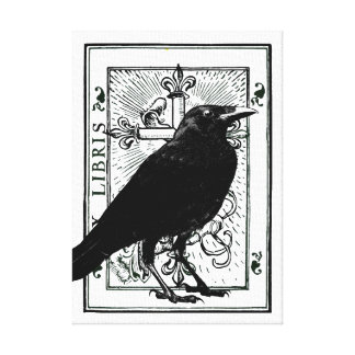 Raven and Cross Gallery Wrapped Canvas